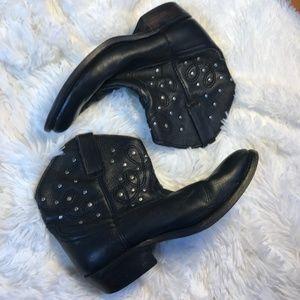 Miz Mooz Studded Black Western Black Leather Boots